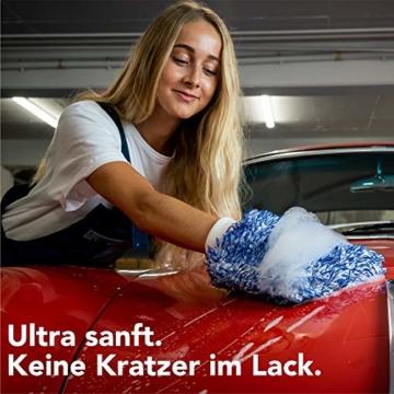 OTARU Hochwertiger Waschhandschuh - Auto & Motorrad - Extragroße Reinigungsfläche (Innovative Fasertechnologie) Besondere Saugstärke - 5