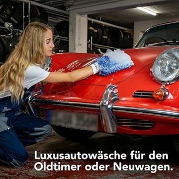 OTARU Hochwertiger Waschhandschuh - Auto & Motorrad - Extragroße Reinigungsfläche (Innovative Fasertechnologie) Besondere Saugstärke - 6