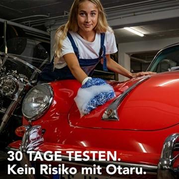 OTARU Hochwertiger Waschhandschuh - Auto & Motorrad - Extragroße Reinigungsfläche (Innovative Fasertechnologie) Besondere Saugstärke - 7