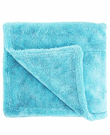 Wizard of Gloss Blue Marlin Edgeless Drying Towel 1500GSM 80x50 Trockentuch - 3