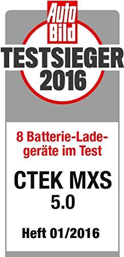 CTEK MXS 5.0 Vollautomatisches Ladegerät (Optimale Ladung, Unterhaltungsladung und Instandsetzung von Auto- und Motorradbatterien) 12V, 5 Amp. – EU Stecker - 6