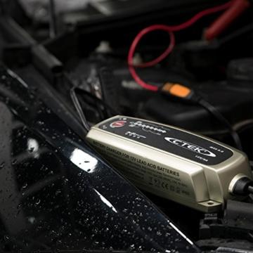 CTEK MXS 5.0 Vollautomatisches Ladegerät (Optimale Ladung, Unterhaltungsladung und Instandsetzung von Auto- und Motorradbatterien) 12V, 5 Amp. – EU Stecker - 7