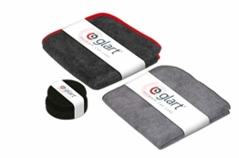 glart 44TPP6 Premium Set Lackpflege 3-teilig Poliertuch 40 x 40 cm, Polierpuk, Trockentuch 40 x 40 cm - 1