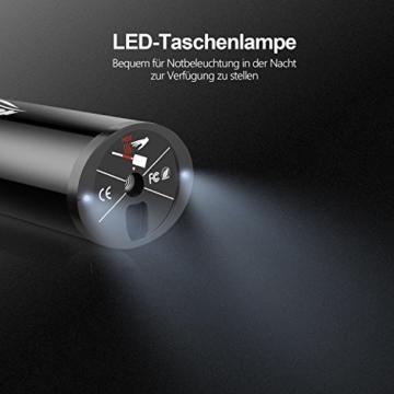 Oasser Elektrischer Kompressor Tragbare Auto-Luftpumpe Portable Reifenpumpe mit LCD Display mit wiederaufladbarer Li-ionen Batterie I50PSI 12V Schwarz Verpackung MEHRWEG - 5
