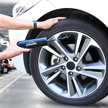 Oasser Elektrischer Kompressor Tragbare Auto-Luftpumpe Portable Reifenpumpe mit LCD Display mit wiederaufladbarer Li-ionen Batterie I50PSI 12V Schwarz Verpackung MEHRWEG - 6