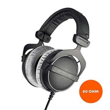 beyerdynamic DT 770 PRO 80 Ohm Over-Ear-Studiokopfhörer in schwarz. Geschlossene Bauweise, kabelgebunden für professionelles Recording und Monitoring - 1