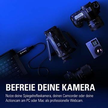 Corsair Elgato Cam Link 4K, Live-Streamen und Aufnehmen mit DSLR, Action Cam oder Camcorder in 1080p60 oder 4K bei 30 fps, HDMI Capture-Gerät, USB 3.0 - 2