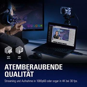 Corsair Elgato Cam Link 4K, Live-Streamen und Aufnehmen mit DSLR, Action Cam oder Camcorder in 1080p60 oder 4K bei 30 fps, HDMI Capture-Gerät, USB 3.0 - 3