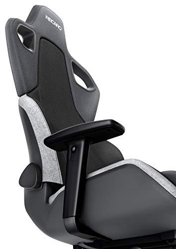 RECARO Exo Gaming Chair – Ergonomischer, höhenverstellbarer Stuhl für Gamer mit 4 Grundpositionen & Feinjustierung – Shadow Grey - 4