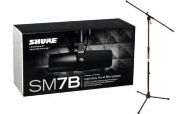 Shure SM7B Dynamisches Nierenmikrofon mit Stativ - 1
