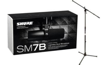 Shure SM7B Dynamisches Nierenmikrofon mit Stativ - 2