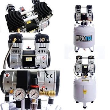 1500W 2PS Silent Flüsterkompressor Druckluftkompressor 60dB leise ölfrei flüster Kompressor Compressor IMPLOTEX - 2