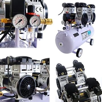 3000W 4PS Silent Flüsterkompressor Druckluftkompressor 65dB leise ölfrei flüster Kompressor Compressor IMPLOTEX - 2