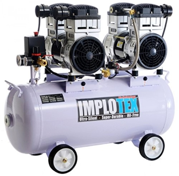 3000W 4PS Silent Flüsterkompressor Druckluftkompressor 65dB leise ölfrei flüster Kompressor Compressor IMPLOTEX - 1