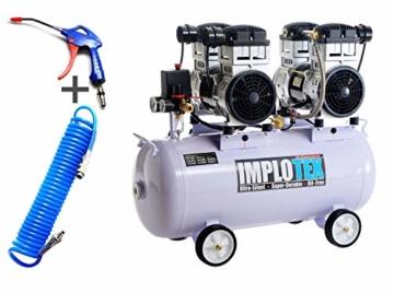 3000W 4PS Silent Flüsterkompressor Druckluftkompressor Kompressor 65dB leise ölfrei inkl. Ausblaspistole und Druckluftschlauch IMPLOTEX - 1