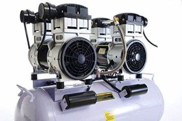 3000W 4PS Silent Flüsterkompressor Druckluftkompressor Kompressor 65dB leise ölfrei inkl. Ausblaspistole und Druckluftschlauch IMPLOTEX - 8