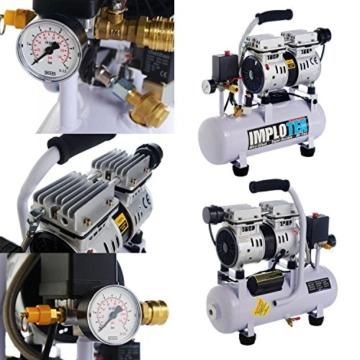 480W Silent Flüsterkompressor Druckluftkompressor nur 48dB leise ölfrei flüster Kompressor Compressor IMPLOTEX - 2