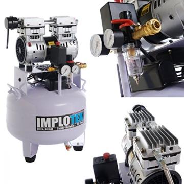 850W Silent Flüsterkompressor Druckluftkompressor nur 55dB leise ölfrei flüster Kompressor Compressor IMPLOTEX - 2