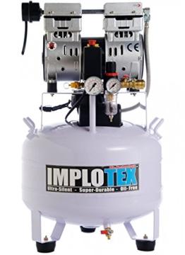 850W Silent Flüsterkompressor Druckluftkompressor nur 55dB leise ölfrei flüster Kompressor Compressor IMPLOTEX - 1