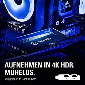 Corsair Elgato Game Capture 4K60 Pro MK.2 (4K60FPS HDR Capture, PCI x 4 (Intern) und Passthrough, PCIe Capture Card, Ultra-Low-Latency Technologie) - 2