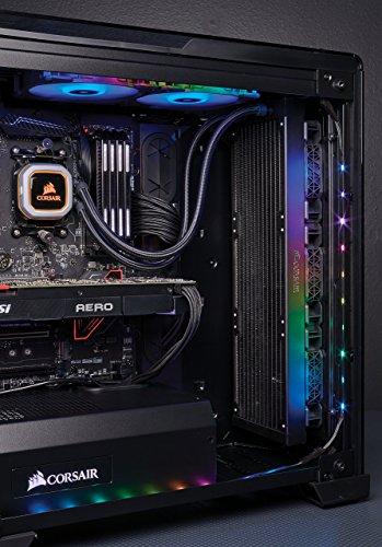 CORSAIR Hydro Series H150i PRO RGB CPU-Flüssigkeitskühlung (360-mm-Radiator, drei ML Series 120-mm-PWM-Lüfter, RGB-Beleuchtung und Lüfter, Intel 115x/2066 und AMD AM4 kompatibel) - 12