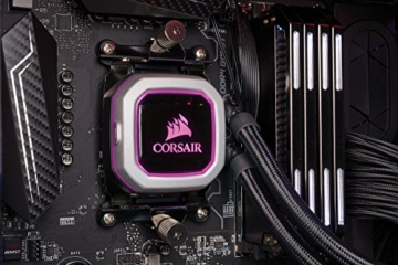 CORSAIR Hydro Series H150i PRO RGB CPU-Flüssigkeitskühlung (360-mm-Radiator, drei ML Series 120-mm-PWM-Lüfter, RGB-Beleuchtung und Lüfter, Intel 115x/2066 und AMD AM4 kompatibel) - 13