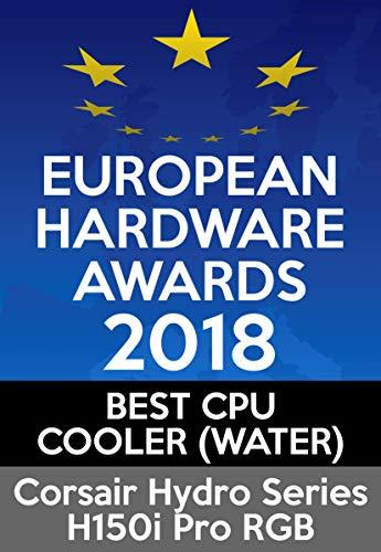CORSAIR Hydro Series H150i PRO RGB CPU-Flüssigkeitskühlung (360-mm-Radiator, drei ML Series 120-mm-PWM-Lüfter, RGB-Beleuchtung und Lüfter, Intel 115x/2066 und AMD AM4 kompatibel) - 16