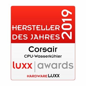 CORSAIR Hydro Series H150i PRO RGB CPU-Flüssigkeitskühlung (360-mm-Radiator, drei ML Series 120-mm-PWM-Lüfter, RGB-Beleuchtung und Lüfter, Intel 115x/2066 und AMD AM4 kompatibel) - 18