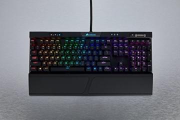 Corsair K70 RGB MK.2 Mechanische Gaming Tastatur (Cherry MX Silent: Leichtgängig und Flüsterleise, Dynamischer RGB LED Hintergrundbeleuchtung, QWERTZ DE Layout) schwarz - 3