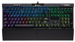 Corsair K70 RGB MK.2 Mechanische Gaming Tastatur (Cherry MX Silent: Leichtgängig und Flüsterleise, Dynamischer RGB LED Hintergrundbeleuchtung, QWERTZ DE Layout) schwarz - 1