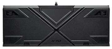 Corsair K70 RGB MK.2 Mechanische Gaming Tastatur (Cherry MX Silent: Leichtgängig und Flüsterleise, Dynamischer RGB LED Hintergrundbeleuchtung, QWERTZ DE Layout) schwarz - 6