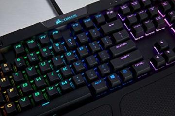 Corsair K70 RGB MK.2 Mechanische Gaming Tastatur (Cherry MX Silent: Leichtgängig und Flüsterleise, Dynamischer RGB LED Hintergrundbeleuchtung, QWERTZ DE Layout) schwarz - 7