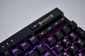 Corsair K70 RGB MK.2 Mechanische Gaming Tastatur (Cherry MX Silent: Leichtgängig und Flüsterleise, Dynamischer RGB LED Hintergrundbeleuchtung, QWERTZ DE Layout) schwarz - 9