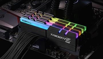 G.Skill Trident Z RGB 64GB DDR4 3600MHz Speichermodul - Speichermodule (64 GB, 4 x 16 GB, DDR4, 3600 MHz, Schwarz) - 4