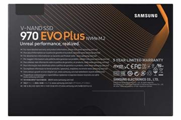 Samsung MZ-V7S1T0BW 970 EVO Plus 1 TB NVMe M.2 Interne SSD Schwarz - 6
