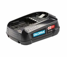 GLORIA 18 V 2.5 Ah BOSCH Akku - Power for all, Home and Garden Linie (für MultiJet 18V, WeedBrush li-on, MultiBrush li-on) - 1
