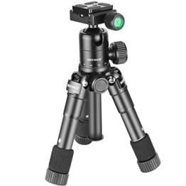 Neewer Tragbares Kompakt Desktop Makro Mini-Stativ mit 360-Grad-Kugelkopf, 1/4 Schnellwechselplatte, Tasche für DSLR Kamera, Video Camcorder bis zu 5 Kilogramm (50cm,Schwarz) - 1