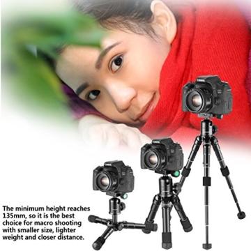 Neewer Tragbares Kompakt Desktop Makro Mini-Stativ mit 360-Grad-Kugelkopf, 1/4 Schnellwechselplatte, Tasche für DSLR Kamera, Video Camcorder bis zu 5 Kilogramm (50cm,Schwarz) - 4