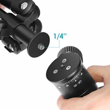 Neewer Tragbares Kompakt Desktop Makro Mini-Stativ mit 360-Grad-Kugelkopf, 1/4 Schnellwechselplatte, Tasche für DSLR Kamera, Video Camcorder bis zu 5 Kilogramm (50cm,Schwarz) - 9