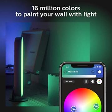 Philips Hue White and Color Ambiance Play Lightbar Doppelpack, dimmbar, bis zu 16 Millionen Farben, steuerbar via App, kompatibel mit Amazon Alexa, schwarz - 6