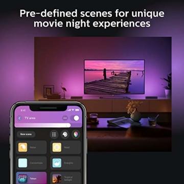 Philips Hue White and Color Ambiance Play Lightbar Doppelpack, dimmbar, bis zu 16 Millionen Farben, steuerbar via App, kompatibel mit Amazon Alexa, schwarz - 7