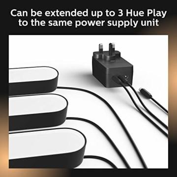 Philips Hue White and Color Ambiance Play Lightbar Doppelpack, dimmbar, bis zu 16 Millionen Farben, steuerbar via App, kompatibel mit Amazon Alexa, schwarz - 10