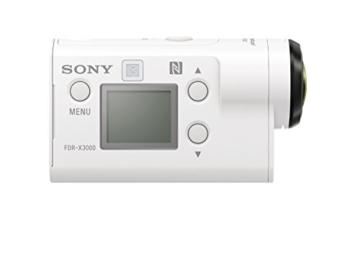 Sony FDR-X3000R 4K Action Cam mit BOSS (Exmor R CMOS Sensor, Carl Zeiss Tessar Optik, GPS, WiFi, NFC) mit RM-LVR3 Live View Remote Fernbedienung, weiß - 11