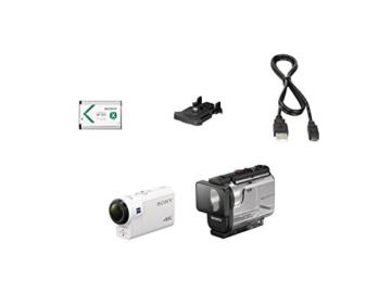 Sony FDR-X3000R 4K Action Cam mit BOSS (Exmor R CMOS Sensor, Carl Zeiss Tessar Optik, GPS, WiFi, NFC) mit RM-LVR3 Live View Remote Fernbedienung, weiß - 14