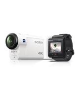 Sony FDR-X3000R 4K Action Cam mit BOSS (Exmor R CMOS Sensor, Carl Zeiss Tessar Optik, GPS, WiFi, NFC) mit RM-LVR3 Live View Remote Fernbedienung, weiß - 1