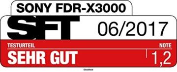 Sony FDR-X3000R 4K Action Cam mit BOSS (Exmor R CMOS Sensor, Carl Zeiss Tessar Optik, GPS, WiFi, NFC) mit RM-LVR3 Live View Remote Fernbedienung, weiß - 49