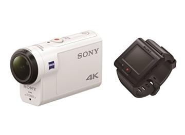 Sony FDR-X3000R 4K Action Cam mit BOSS (Exmor R CMOS Sensor, Carl Zeiss Tessar Optik, GPS, WiFi, NFC) mit RM-LVR3 Live View Remote Fernbedienung, weiß - 6