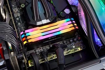 Corsair Vengeance RGB PRO 64GB (4x16GB) DDR4 3200MHz C16 XMP 2.0 Enthusiast RGB LED-Beleuchtung Speicherkit - schwarz - 4