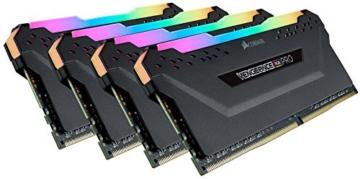 Corsair Vengeance RGB PRO 64GB (4x16GB) DDR4 3200MHz C16 XMP 2.0 Enthusiast RGB LED-Beleuchtung Speicherkit - schwarz - 1