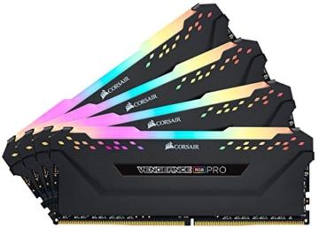 Corsair Vengeance RGB PRO 64GB (4x16GB) DDR4 3200MHz C16 XMP 2.0 Enthusiast RGB LED-Beleuchtung Speicherkit - schwarz - 7
